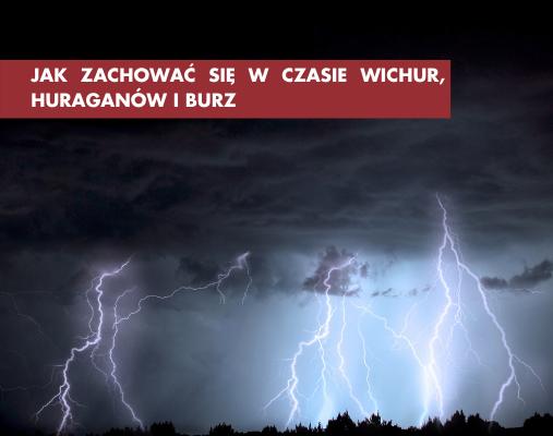 Jak zachować się w czasie wichur huraganów i burz